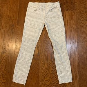 Pilcro for Anthro Printed Stet Jeans SZ 26P